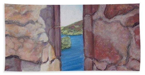 Archers' Window Urquhart Ruins Loch Ness Bath Towel
