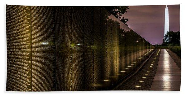 Vietnam Veterans Memorial Bath Towel