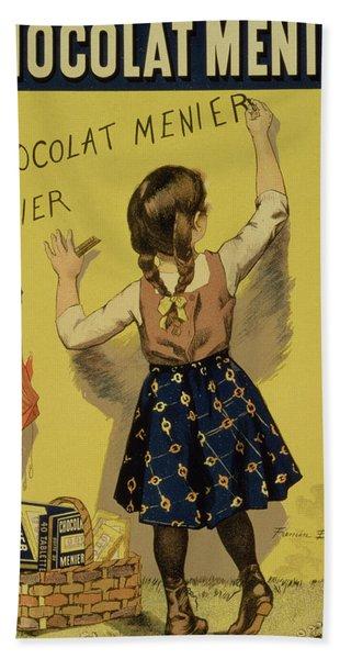 Vintage Poster Advertising Chocolate Hand Towel