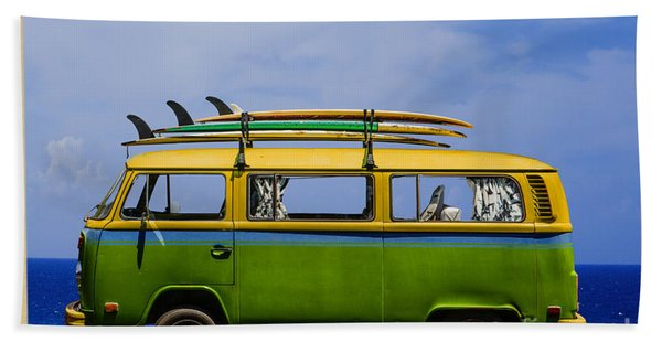 Vintage Surf Van Hand Towel