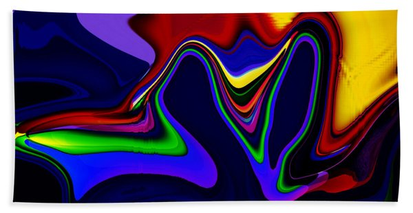 Hand Towel featuring the digital art Vivacity  - Abstract  by Gerlinde Keating - Galleria GK Keating Associates Inc