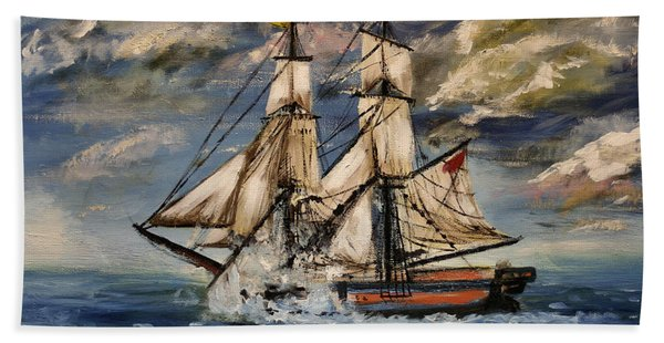Voyage Of The Cloud Chaser Bath Towel