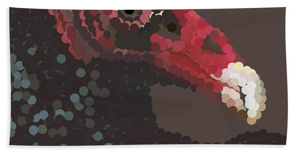 Vulture Pixel Pointillized Hand Towel