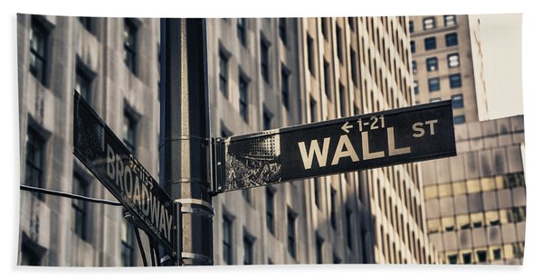 Wall Street Sign Hand Towel