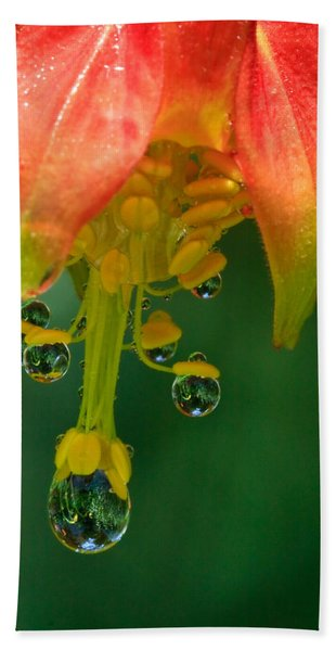 Water Droplets Bath Towel