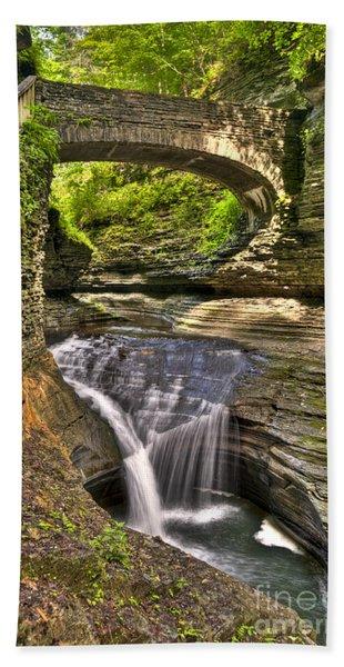 Watkins Glen Waterfalls Bath Towel