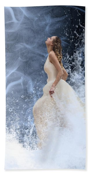 Waves Of His Glory Hand Towel