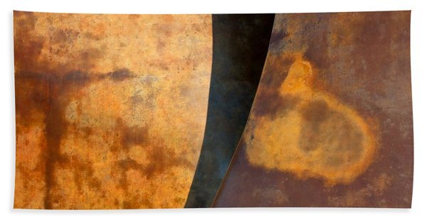 Weathered Bronze Abstract Bath Towel