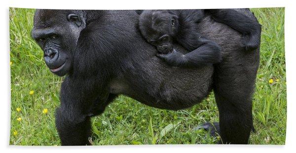 Western Lowland Gorilla 2 Bath Towel