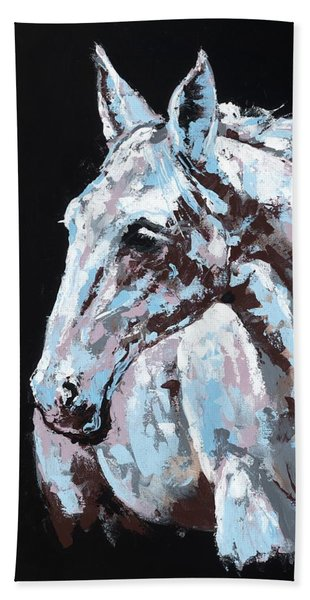 White Horse Hand Towel