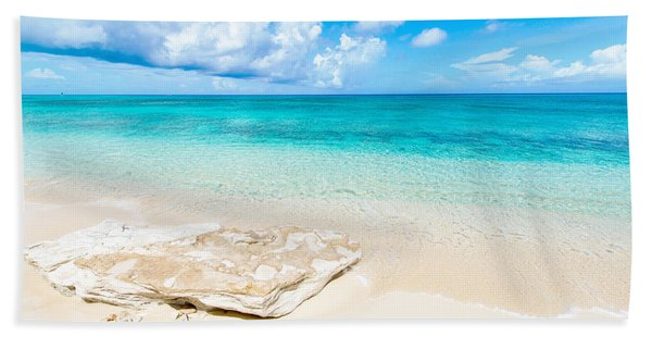 White Sand Bath Towel