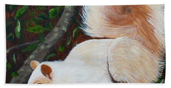 White Squirrel Of Sooke Bath Towel