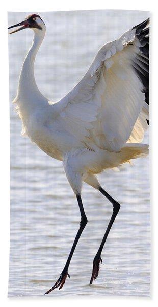 Whooping Crane - Whooping It Up Bath Towel