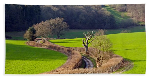 Winding Country Lane Hand Towel