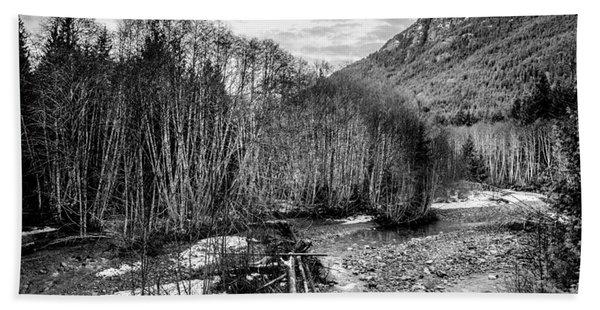Winter Backroads Englishman River Hand Towel