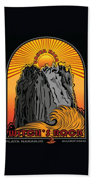 Surfing Witch's Rock Costa Rica Playa Naranjo Hand Towel