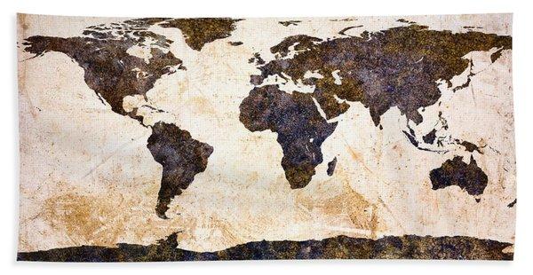 World Map Abstract Bath Towel