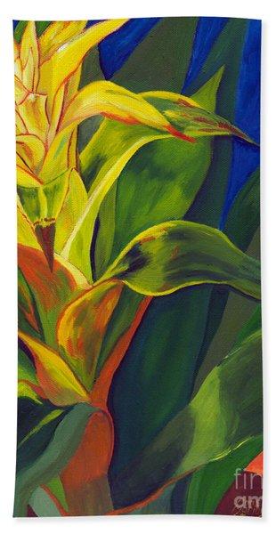 Yellow Bromeliad Bath Towel