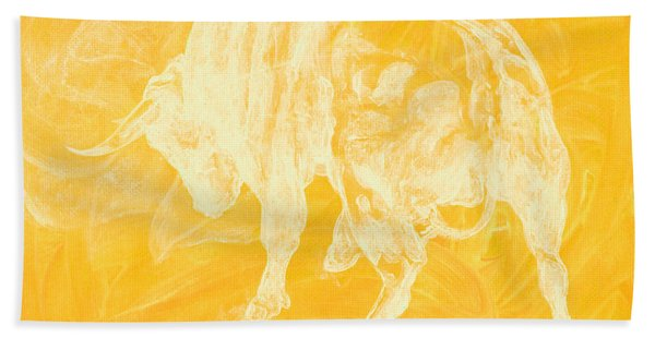 Yellow Bull Negative Bath Towel