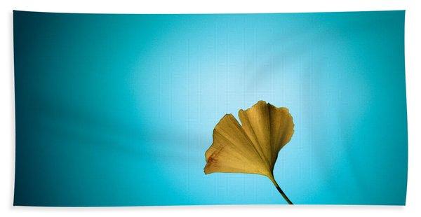 Yellow On Blue Hand Towel