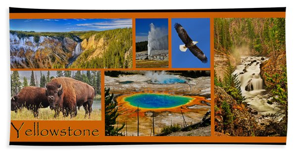 Bath Towel featuring the photograph Yellowstone National Park by Greg Norrell