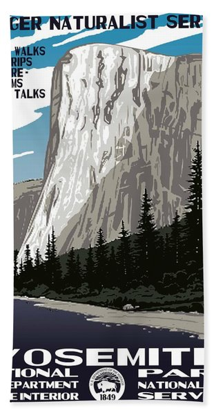 Yosemite National Park Vintage Poster 2 Bath Towel