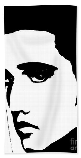 Elvis In Black And White Hand Towel