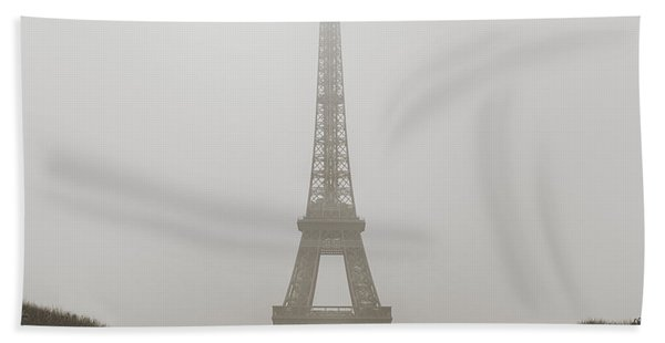 Foggy Morning In Paris Bath Towel
