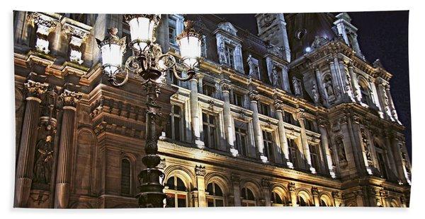 Hotel De Ville In Paris Hand Towel