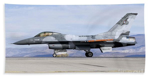 An F-16a Fighting Falcon Of The Famous Bath Towel