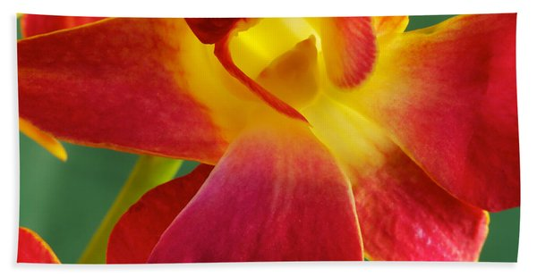 Dendribium Malone Or Hope Orchid Flower Hand Towel