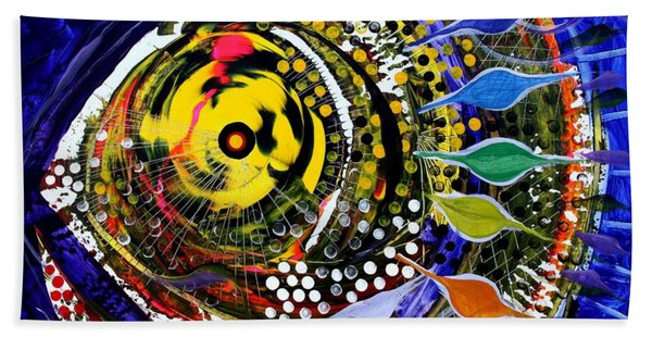 Abstract Busy Bee Fish Hand Towel