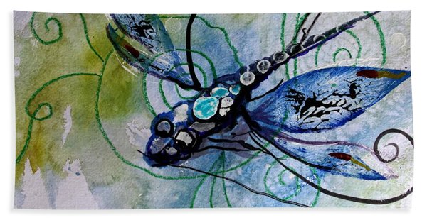 Abstract Dragonfly 10 Hand Towel
