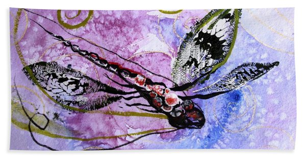 Abstract Dragonfly 6 Bath Towel