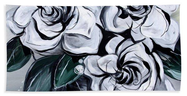 Abstract Gardenias Hand Towel