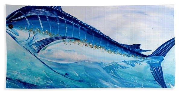Abstract Marlin Hand Towel