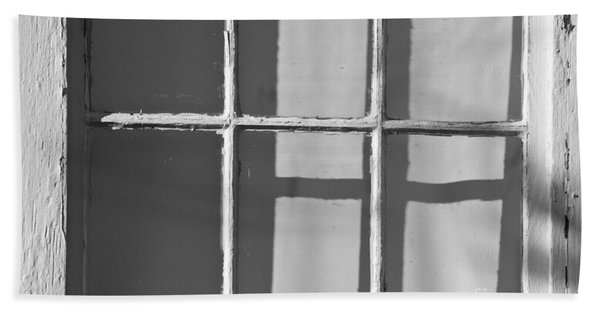 Abstract Window In Light And Shadow Bath Towel