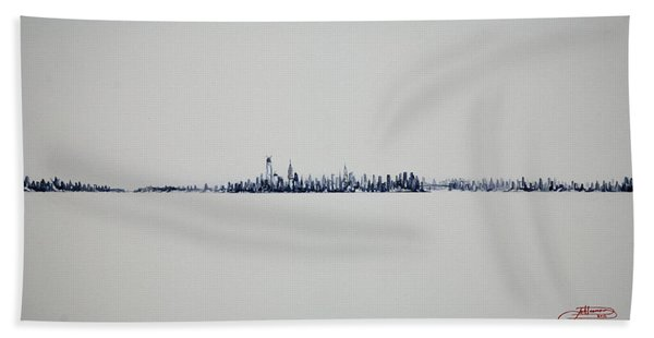 Autum Skyline Hand Towel