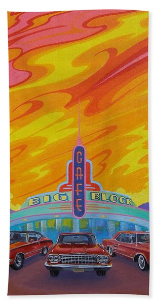 Big Block Cafe Bath Towel
