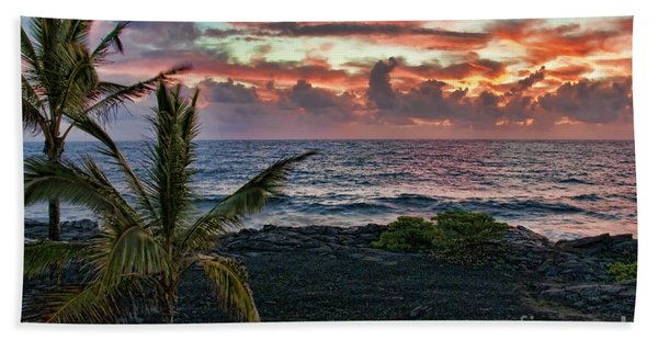 Big Island Sunrise Bath Towel