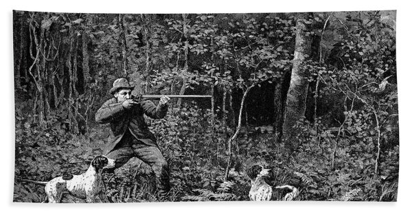 Bird Shooting, 1886 Hand Towel