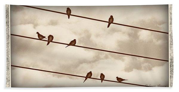 Birds On Wires Hand Towel