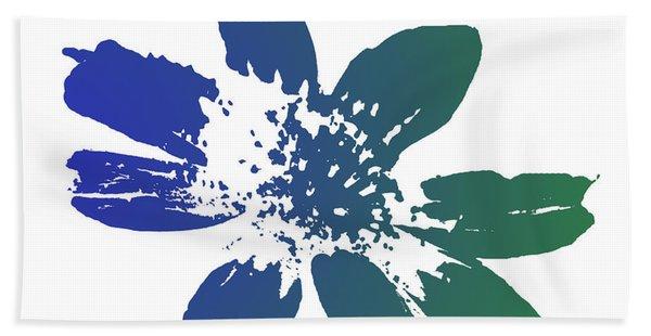 Blue In Bloom Hand Towel