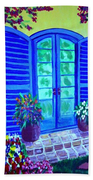 Blue Shutters Hand Towel