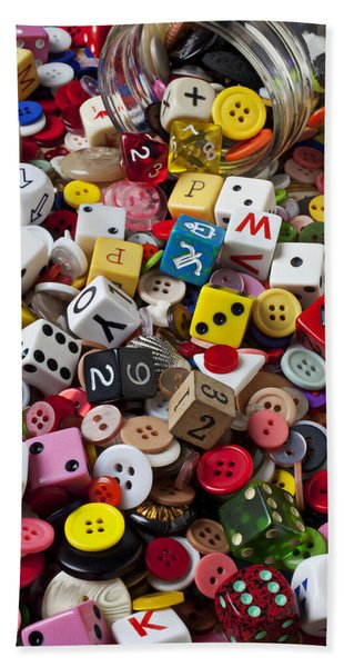 Buttons And Dice Hand Towel