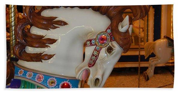 Carousel Horse Brown Mane Hand Towel
