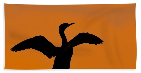 Dawn Of A Double-crested Cormorant  Hand Towel
