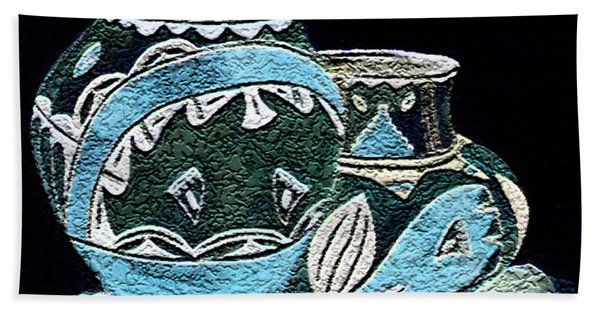 Etched Pottery Hand Towel