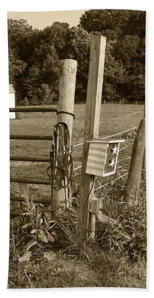 Fence Post Bath Towel