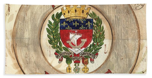 French Coat Of Arms Bath Towel